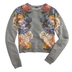 J Crew Dutch Floral Sweatshirt Top